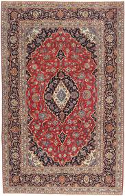 Keszan Patina Dywan 205X327 Orientalny Tkany Ręcznie Ciemnoczerwony/Ciemnobrązowy (Wełna, Persja/Iran)