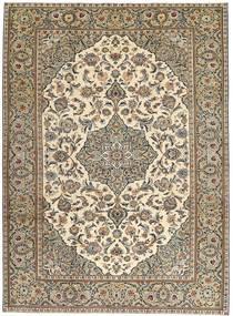 Keszan Patina Dywan 230X325 Orientalny Tkany Ręcznie Jasnoszary/Jasnobrązowy (Wełna, Persja/Iran)