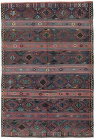 Kilim Tureckie Dywan 168X250 Orientalny Tkany Ręcznie Ciemnoszary/Ciemnoczerwony (Wełna, Turcja)