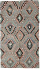 Kilim Tureckie Dywan 176X307 Orientalny Tkany Ręcznie Jasnoszary/Ciemnobrązowy (Wełna, Turcja)