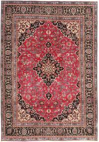 Meszhed Patina Dywan 195X278 Orientalny Tkany Ręcznie Ciemnoczerwony/Rdzawy/Czerwony (Wełna, Persja/Iran)