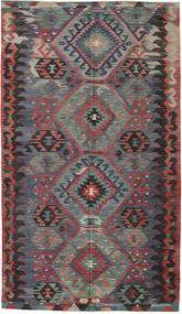 Kilim Tureckie Dywan 180X312 Orientalny Tkany Ręcznie Ciemnoczerwony/Czarny (Wełna, Turcja)