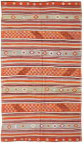 Kilim Tureckie Dywan 157X277 Orientalny Tkany Ręcznie Rdzawy/Czerwony/Jasnoszary (Wełna, Turcja)