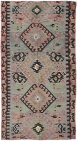Kilim Tureckie Dywan 153X292 Orientalny Tkany Ręcznie Ciemnoszary/Brązowy (Wełna, Turcja)