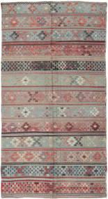 Kilim Tureckie Dywan 146X288 Orientalny Tkany Ręcznie Ciemnoszary/Jasnoszary (Wełna, Turcja)