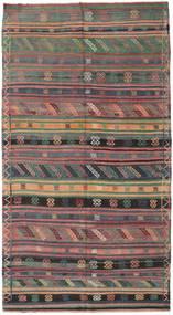 Kilim Tureckie Dywan 155X286 Orientalny Tkany Ręcznie Ciemnoszary/Brązowy (Wełna, Turcja)