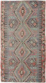 Kilim Tureckie Dywan 150X280 Orientalny Tkany Ręcznie Ciemnoszary/Jasnoszary (Wełna, Turcja)