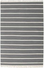 Dorri Stripe - Szary Dywan 160X230 Nowoczesny Tkany Ręcznie Ciemnobrązowy/Ciemnoszary (Wełna, Indie)