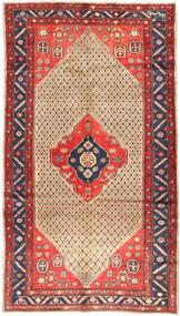 Koliai Dywan 156X281 Orientalny Tkany Ręcznie Chodnik Ciemnoczerwony/Beżowy (Wełna, Persja/Iran)