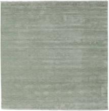 Handloom Fringes - Soft Teal Dywan 250X250 Nowoczesny Kwadratowy Jasnozielony Duży (Wełna, Indie)