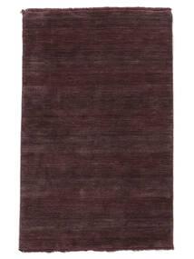 Handloom Fringes - Intensywne Wino Dywan 160X230 Nowoczesny Ciemnofioletowy/Ciemnobrązowy (Wełna, Indie)