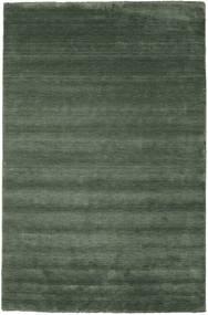 Handloom Fringes - Leśna Zieleń Dywan 300X400 Nowoczesny Zielony/Oliwkowy/Ciemnozielony Duży (Wełna, Indie)