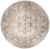 Pasha - Beżowy/Szary Dywan Ø 200 Nowoczesny Okrągły Jasnoszary/Biały/Creme ( Turcja)