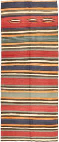 Kilim Fars Dywan 152X373 Orientalny Tkany Ręcznie Chodnik Ciemnoszary/Jasnobrązowy (Wełna, Persja/Iran)