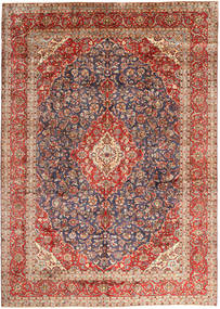 Keszan Dywan 297X410 Orientalny Tkany Ręcznie Ciemnoczerwony/Ciemnobrązowy Duży (Wełna, Persja/Iran)