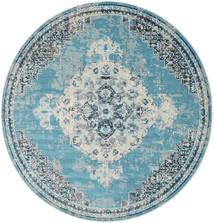 Turid - Niebieski Dywan Ø 200 Nowoczesny Okrągły Jasnoniebieski/Jasnoszary ( Turcja)