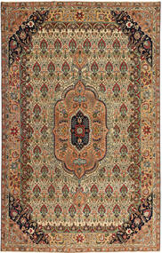 Tebriz Patina Dywan 195X305 Orientalny Tkany Ręcznie Brązowy/Jasnobrązowy (Wełna, Persja/Iran)