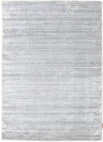 Bamboo Jedwab Loom - Szary Dywan 140X200 Nowoczesny Jasnoszary/Biały/Creme ( Indie)