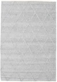 Svea - Szarość Srebrna Dywan 140X200 Nowoczesny Tkany Ręcznie Jasnoszary/Biały/Creme (Wełna, Indie)