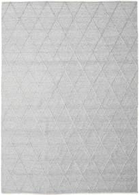 Svea - Szarość Srebrna Dywan 250X350 Nowoczesny Tkany Ręcznie Jasnoszary/Biały/Creme Duży (Wełna, Indie)