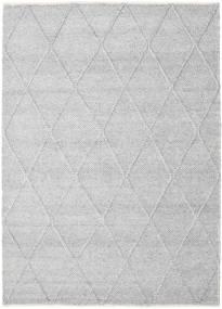 Svea - Szarość Srebrna Dywan 160X230 Nowoczesny Tkany Ręcznie Jasnoszary/Biały/Creme (Wełna, Indie)