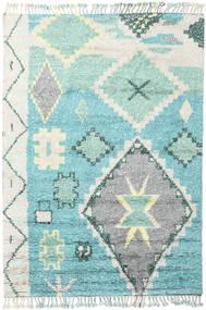 Odda - Turkusowy Dywan 200X300 Nowoczesny Tkany Ręcznie Beżowy/Turkusowy Niebieski (Wełna, Indie)