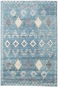 Zaurac - Niebieski Szary Dywan 200X300 Nowoczesny Tkany Ręcznie Jasnoniebieski/Biały/Creme (Wełna, Indie)