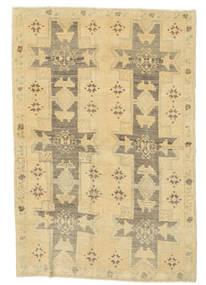 Taspinar Dywan 129X190 Orientalny Tkany Ręcznie Beżowy/Jasnobrązowy (Wełna, Turcja)