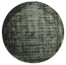 Brooklyn - Zieleń Mchu Dywan Ø 200 Nowoczesny Okrągły Ciemnozielony/Czarny ( Indie)
