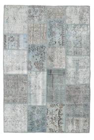 Patchwork Dywan 138X206 Nowoczesny Tkany Ręcznie Jasnoszary/Turkusowy Niebieski (Wełna, Turcja)