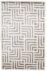Maze Dywan 200X300 Nowoczesny Tkany Ręcznie Jasnoszary/Biały/Creme ( Indie)