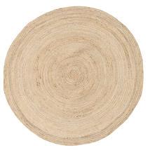 Solana Plain Jute - Natural Dywan Ø 150 Nowoczesny Tkany Ręcznie Okrągły Beżowy/Jasnobrązowy ( Indie)
