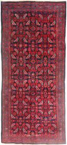 Hamadan Dywan 137X320 Orientalny Tkany Ręcznie Chodnik Ciemnoczerwony/Czerwony (Wełna, Persja/Iran)