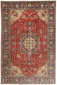 Tebriz Dywan 200X297 Orientalny Tkany Ręcznie Ciemnobrązowy/Ciemnoczerwony (Wełna, Persja/Iran)