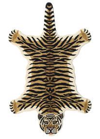 Tiger - Beżowy Dywan 100X160 Nowoczesny Ciemnoniebieski/Jasnobrązowy (Wełna, Indie)