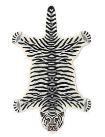 Tiger - White Dywan 100X160 Nowoczesny Czarny/Beżowy (Wełna, Indie)