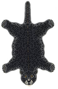 Leopard - Czarny Dywan 100X160 Nowoczesny Ciemnoszary (Wełna, Indie)