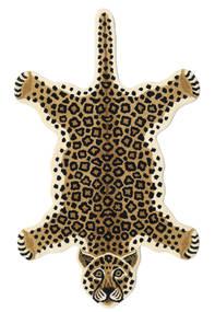 Leopard - Beżowy Dywan 100X160 Nowoczesny Czarny/Jasnobrązowy/Beżowy (Wełna, Indie)