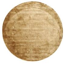 Brooklyn - Złoty Dywan Ø 300 Nowoczesny Okrągły Jasnobrązowy/Ciemnobeżowy Duży ( Indie)