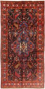 Nahawand Dywan 158X310 Orientalny Tkany Ręcznie Chodnik Ciemnoczerwony/Ciemnobrązowy (Wełna, Persja/Iran)