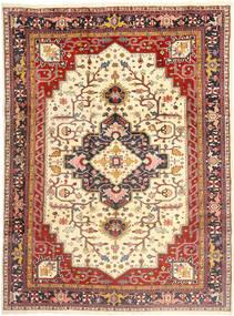 Heriz Dywan 253X350 Orientalny Tkany Ręcznie Ciemnoczerwony/Jasnobrązowy/Beżowy Duży (Wełna, Persja/Iran)