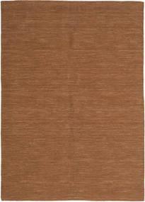 Kilim Loom - Brunatny Dywan 160X230 Nowoczesny Tkany Ręcznie Brązowy (Wełna, Indie)
