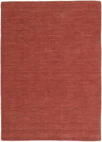 Kilim Loom - Rdzawy Dywan 160X230 Nowoczesny Tkany Ręcznie Ciemnoczerwony (Wełna, Indie)