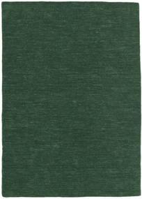 Kilim Loom - Leśna Zieleń Dywan 160X230 Nowoczesny Tkany Ręcznie Ciemnozielony (Wełna, Indie)