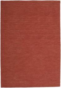 Kilim Loom - Rdzawy Dywan 200X300 Nowoczesny Tkany Ręcznie Ciemnoczerwony (Wełna, Indie)
