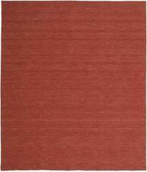Kilim Loom - Rdzawy Dywan 250X300 Nowoczesny Tkany Ręcznie Ciemnoczerwony Duży (Wełna, Indie)