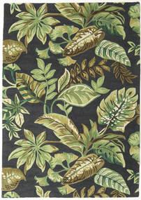 Jungel - Zielony/Czarny Dywan 160X230 Nowoczesny Ciemnozielony/Jasnozielony/Ciemnoszary (Wełna, Indie)
