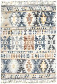 Märta - Niebieski Dywan 160X230 Nowoczesny Tkany Ręcznie Jasnoszary/Beżowy (Wełna, Indie)