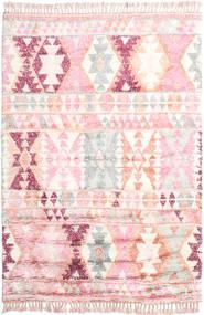 Märta - Różowy Dywan 200X300 Nowoczesny Tkany Ręcznie Jasnoróżowy/Beżowy (Wełna, Indie)