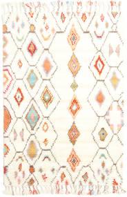 Hulda Dywan 120X180 Nowoczesny Tkany Ręcznie Beżowy/Biały/Creme (Wełna, Indie)